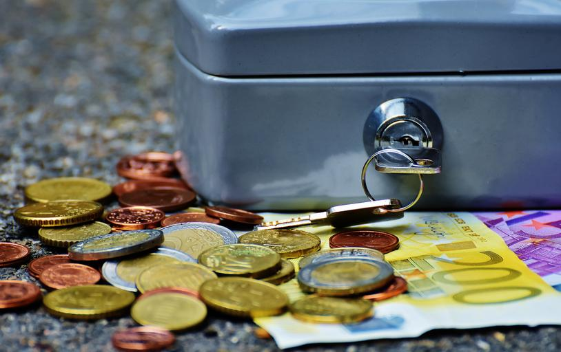 zavřená pokladnička