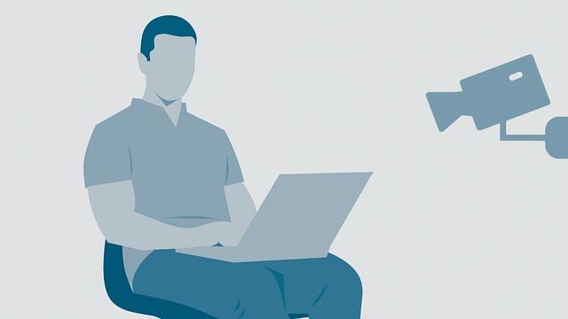 muž s laptopem